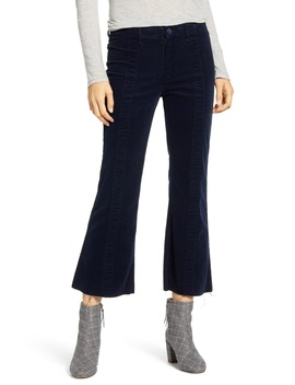 Quinne Paneled Corduroy Crop Flare Pants by Ag