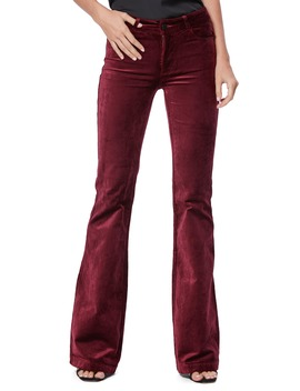 Genevieve Flare Velvet Pants by Paige