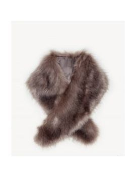 Large Faux Fur Stole    by Sole Society