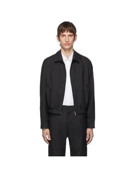Black Zip Up Jacket by Random Identities