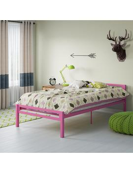 Mainstays Premium Metal Twin Bed, Pink by Mainstays