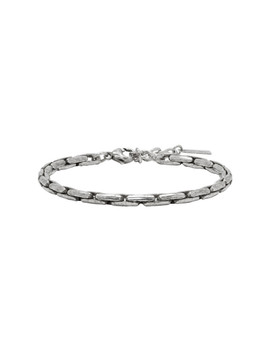 Silver Ovale Bracelet by Saint Laurent
