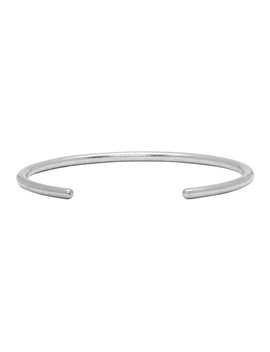 Silver Round Bangle Bracelet by Saint Laurent