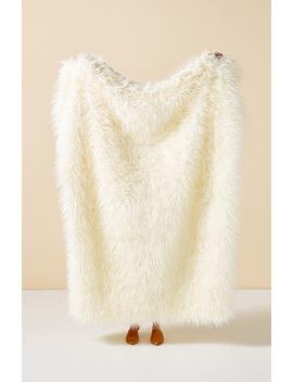 Makura Faux Fur Throw Blanket by Anthropologie