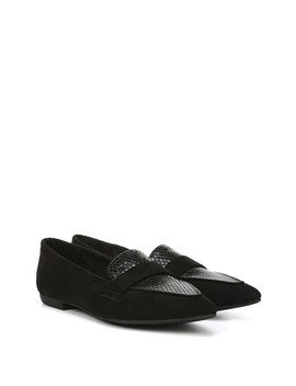 Jemm Snakeskin Embossed Pointed Toe Loafer by Fergalicious