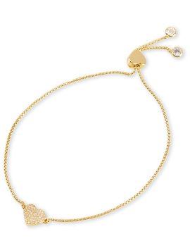 Kate Spade New York Heart To Heart Pave Slider Bracelet by Kate Spade New York