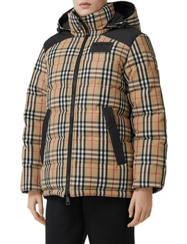 Newbattle Reversible Vintage Check Down Puffer Coat by Burberry
