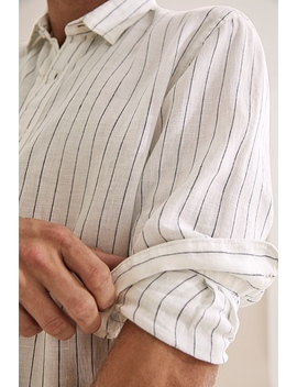 Irish Linen Stripe Shirt by Country Road