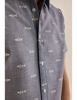 Regular Chambray Print Shirt by Country Road