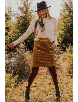 Love Story Velvet Skirt by Roolee
