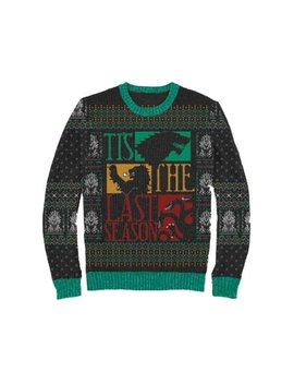 Game Of Thrones Mens Gray Tis The Last Season Christmas Holiday Sweater by Game Of Thrones