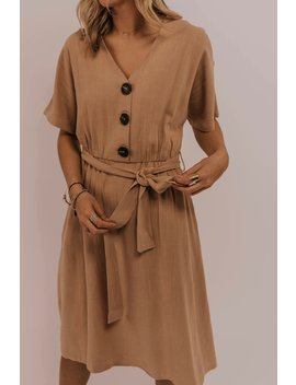 Johnette Button Dress by Roolee