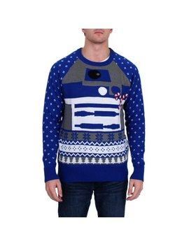 Star Wars Mens R2 D2 Christmas Holiday Pullover Sweater by Star Wars