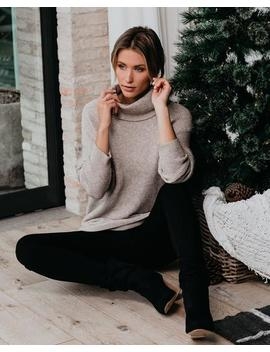 It's A Must Ribbed Turtleneck Sweater   Heather Stone by Vici