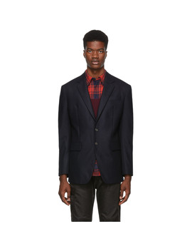 Navy 80's Fit Blazer by Dsquared2
