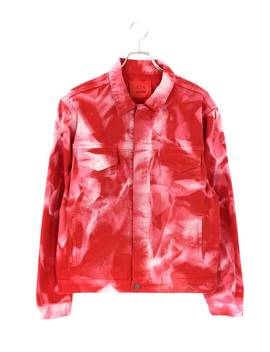 Four Toe Four /424 X Arm Tie Dyeing Dyed Design Denim Jacket (M/ Red Key) [Less]Bb78#Rinkan*A by Rakuten Global Market