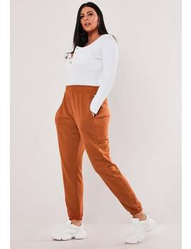 Plus Size Rust Basic Joggers by Missguided