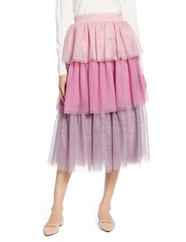X Atlantic Pacific Tiered Tulle Skirt by Halogen®