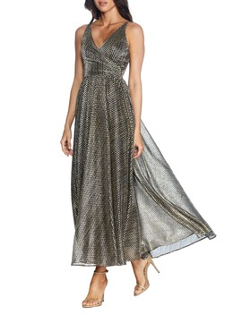 Valentino Metallic A Line Gown by Dress The Population