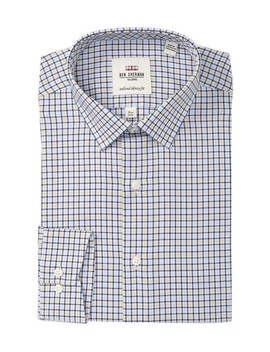 Herringbone Tailored Slim Fit Dress Shirt by Ben Sherman