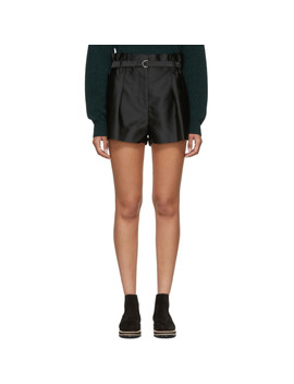 Black Origami Shorts by 3.1 Phillip Lim