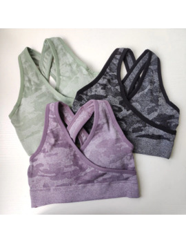 Nepoagym Women 2nd Edition Camo Seamless Bra Sports Wear For Women Gym Sport Bra Top Seamless Sports Bra by Ali Express.Com
