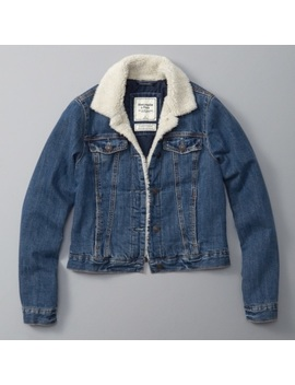 Abercrombie & Fitch Sherpa Denim Jacket by Abercrombie & Fitch