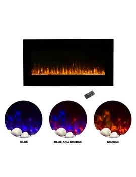 Northwest 36 Inch Wall Mounted Electric Fireplace, Led Fire And Flame Effect by Northwest