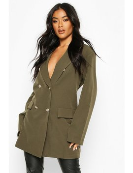 Oversize Double Breasted Blazer by Boohoo
