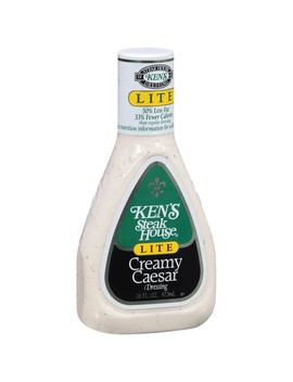 Ken's Steak House Lite Creamy Caesar Dressing, 16 Ounce by Ken's Steak House
