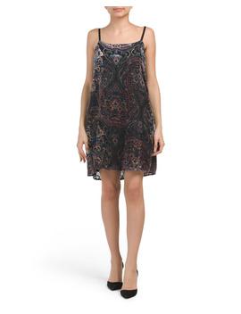 Juniors Printed Velvet Burnout Dress by Tj Maxx