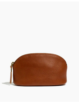 The Leather Makeup Pouch by Madewell