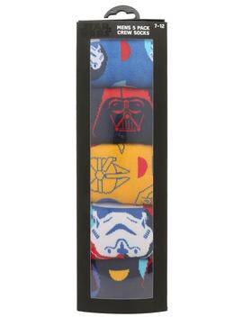 5 Pack Socks Gift Pack by Star Wars