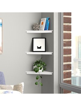 Lebanon Triangle Corner Wall Shelf Set by Brayden Studio