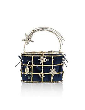 Hiolli Superstar Crystal Embellished Top Handle Bag by Rosantica