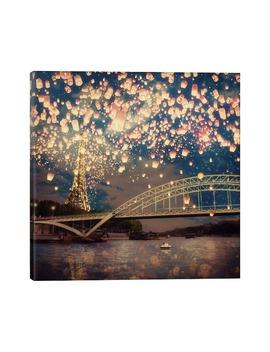 Love Wish Lanterns Over Paris Giclée Print Canvas Art by Icanvas