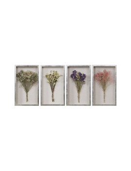 Summer Bouquets Set Of 4 Shadow Boxes by Uttermost
