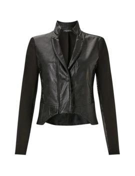 Faux Leather Net Jacket by James Lakeland
