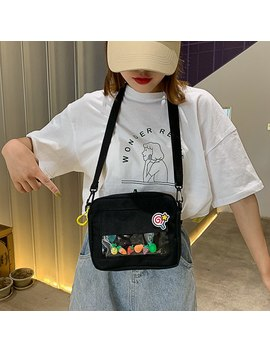 Bags For Women 2019 Fashion Brand New Messenger Bags Fruits Embroidery Canvas Handbags Female Transparent Casual Shoulder Bags by Ali Express.Com