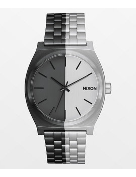 Nixon Time Teller Asymmetrical Black & Silver Analog Watch by Nixon Watches