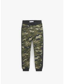 Camouflage Plush Trousers View All Trousers Boy by Zara