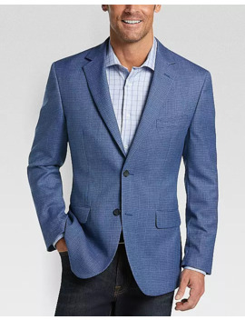 Pronto Uomo Platinum Modern Fit Sport Coat, Blue Check by Pronto Uomo Platinum