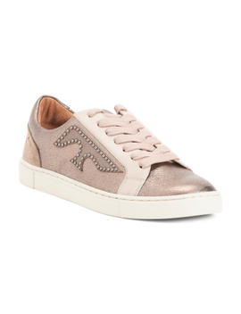 Logo Patch Leather Sneakers by Tj Maxx