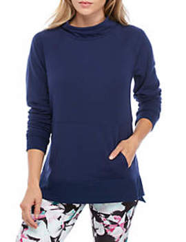 Fleece Mock Neck Pullover by Zelos