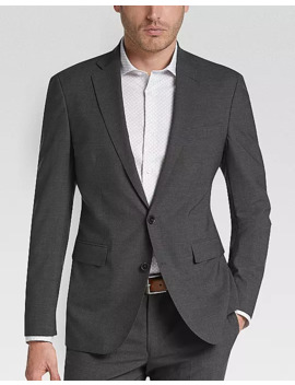 Cole Haan Grand.Øs Gray Coolmax Lined Slim Fit Suit by Cole Haan Zero Grand
