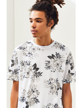 Ps Basics Groves Floral Scallop T Shirt by Pacsun