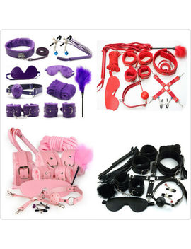 14 Pcs Bondage Beginners/Star<Wbr>Ter Kit/Pack Cuffs Restraint Fetish Sex Toy Bdsm by Sexy Play