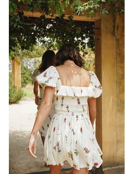 Vg Spanish Sunsets Frill Mini Dress // Floral by Vergegirl