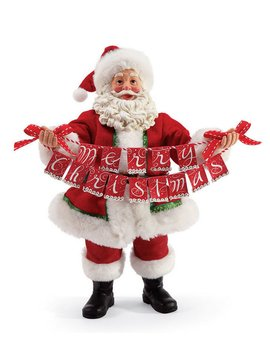 Banner Christmas Santa Figurine by Possible Dreams