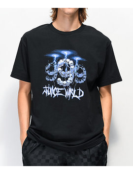 999 Club By Juice Wrld Lightning Black T Shirt by Juice Wrld